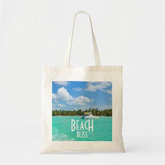 Fuga da felicidade da praia bolsa tote