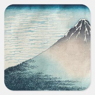 Fuji em Weather claro Adesivos Quadrados