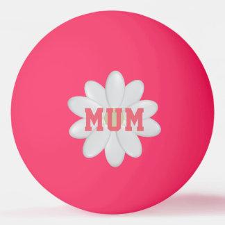 Fulgor da margarida da mãe na bola escura de Pong