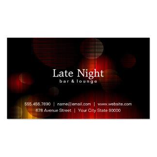 Fulgor da noite cartão de visita
