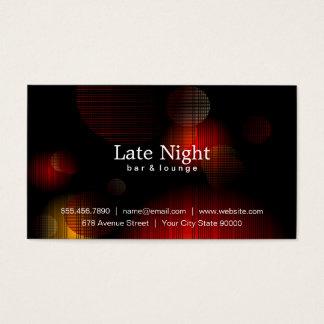 Fulgor da noite cartão de visitas