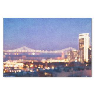 Fulgor da ponte da baía - lenço de papel de San