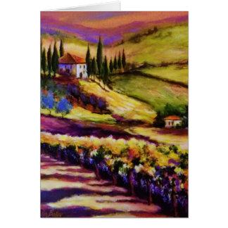 Fulgor de Toscânia pelo cartão do artista