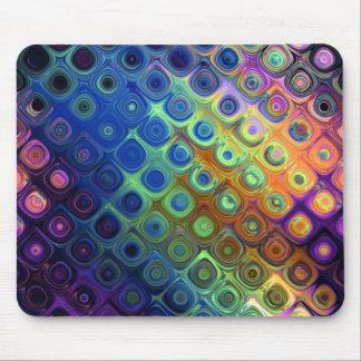 Fulgor de vidro dos círculos legal bonitos dos qua mousepad