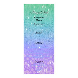 Fulgor Glam dos confetes roxos da lanterna do Convite 10.16 X 23.49cm