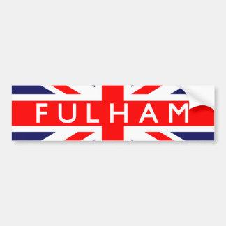 Fulham: Bandeira britânica Adesivo Para Carro