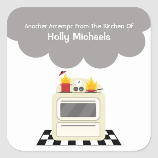 Fumo da cozinha & etiqueta personalizada fogo