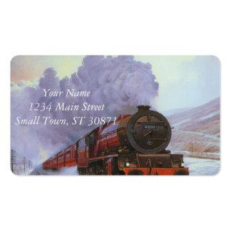 Fumo da pintura do inverno da neve do trem
