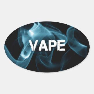 Fumo Vape de turquesa sobre Adesivo Oval