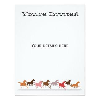 Funcionamento dos cavalos selvagens convite 10.79 x 13.97cm