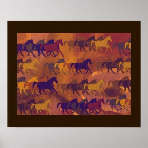 funcionamento impresso dos cavalos pôsteres