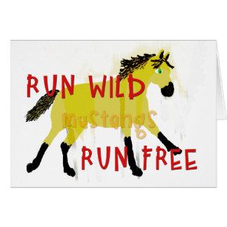 FUNCIONE a coleção lunática do cavalo dos mustang Cartão Comemorativo