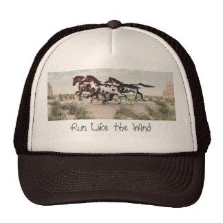 Funcione como o vento - chapéu de galope dos caval boné