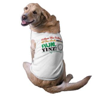 Funcione, Yinz! Design do animal de estimação da Camisa Sem Mangas Para Cachorro