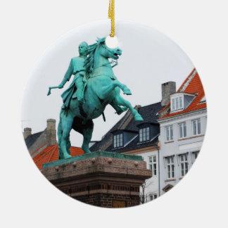 Fundador de Copenhaga Absalon - Højbro Plads Ornamento De Cerâmica Redondo