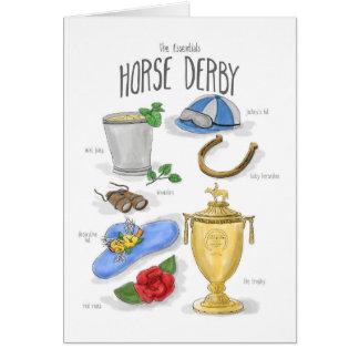 Fundamentos: Cartão de Derby do cavalo