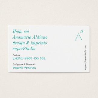 Fundamentos esverdeados cartão de visitas