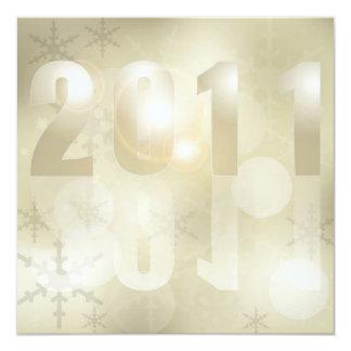 Fundo 2011 do ano novo convite quadrado 13.35 x 13.35cm