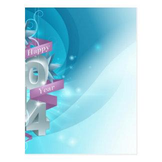 Fundo 2014 do feliz ano novo cartões postais