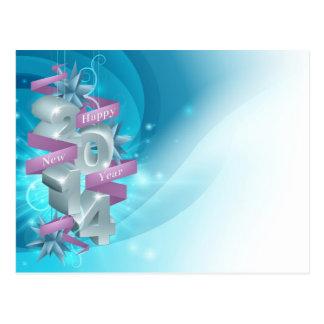 Fundo 2014 do feliz ano novo cartão postal