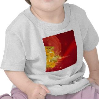 Fundo 2014 vermelho do feliz ano novo t-shirt