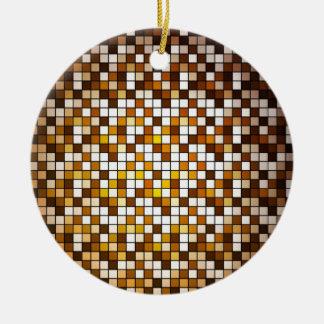 Fundo abstrato Checkered Ornamento De Cerâmica Redondo