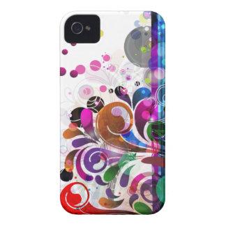 fundo abstrato da flor capa para iPhone 4 Case-Mate