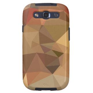 Fundo abstrato do polígono de Brown do camelo Capinhas Samsung Galaxy S3