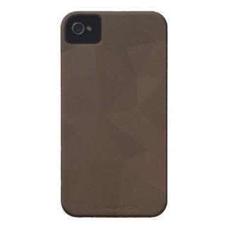 Fundo abstrato do polígono de Brown do Puce escuro Capinha iPhone 4