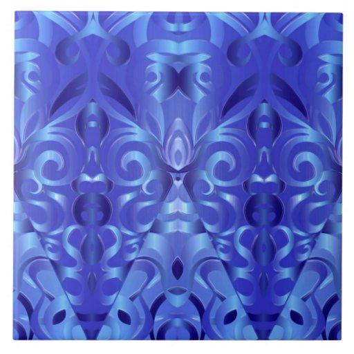 Fundo abstrato floral do azulejo