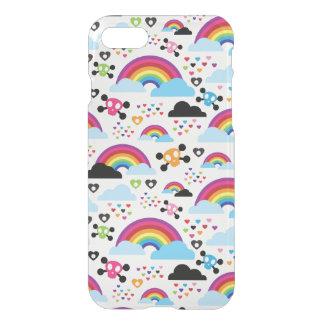 Fundo adolescente do crânio do arco-íris do emo capa iPhone 7