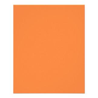 Fundo alaranjado da cor da manga pronto para flyer 11.43 x 14.22cm