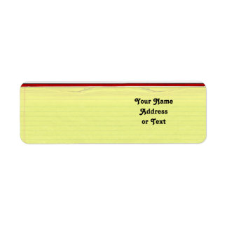 Fundo alinhado amarelo do papel de escola etiqueta endereço de retorno