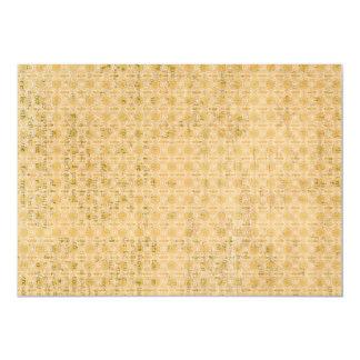Fundo amarelo sujo do papel de parede convite personalizados
