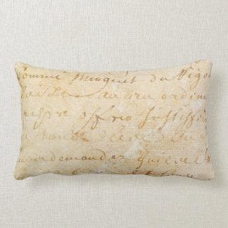 fundo antigo francês do roteiro do vintage dos travesseiros de decoração