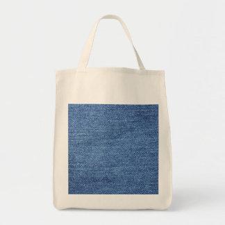 Fundo azul da sarja de Nimes de Jean Bolsas De Lona