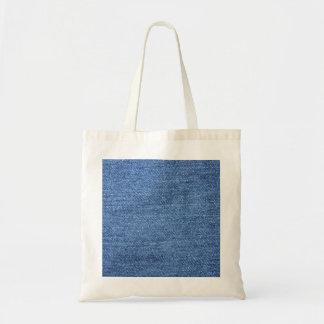 Fundo azul da sarja de Nimes de Jean Bolsa Para Compra