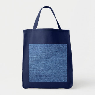 Fundo azul da sarja de Nimes de Jean Bolsa Para Compras