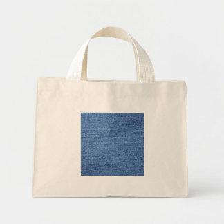 Fundo azul da sarja de Nimes de Jean Bolsas Para Compras