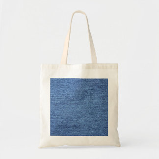 Fundo azul da sarja de Nimes de Jean Sacola Tote Budget