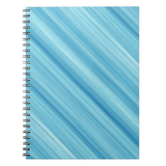Fundo azul do metal caderno espiral