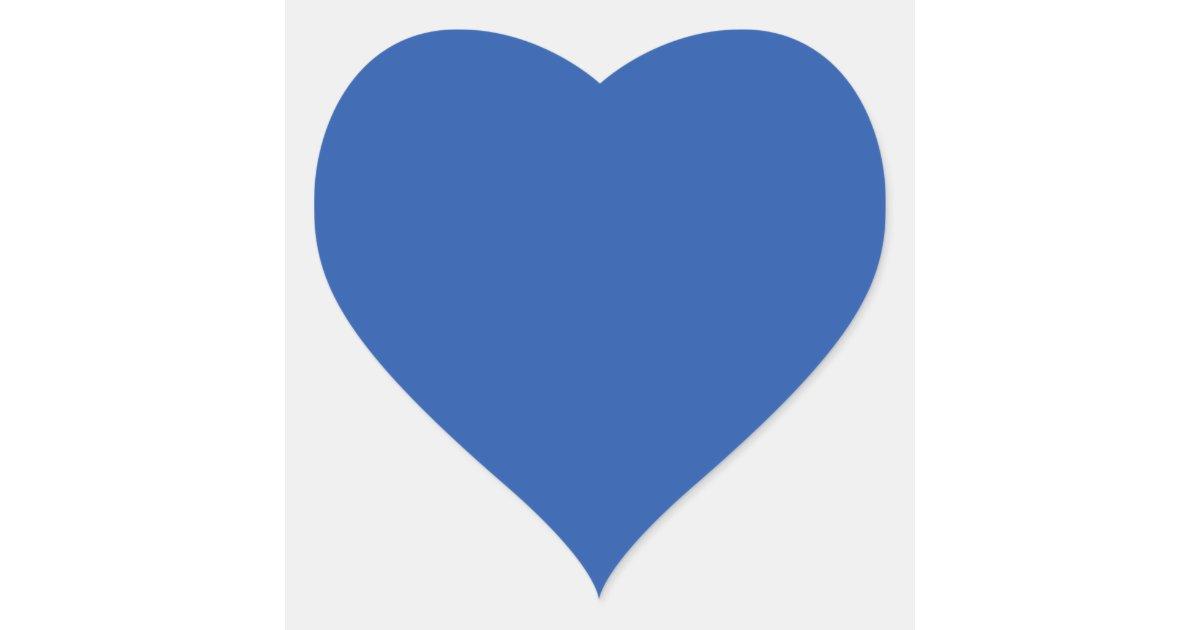 Aparador De Madeira Branco ~ Fundo azul liso adesivo coraç u00e3o Zazzle
