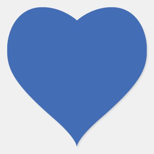 Aparador De Madeira Branco ~ Fundo azul liso adesivo em forma de coraç u00e3o Zazzle