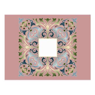 Fundo barroco do vazio da letra cartão postal
