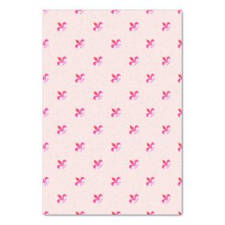 Fundo branco com flor de lis cor-de-rosa papel de seda