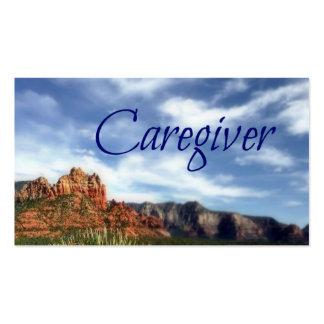 Fundo cénico do deserto do cuidador cartões de visitas
