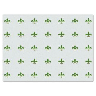 fundo claro com flor de lis verde papel de seda