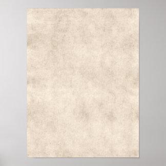 Fundo claro do papel da antiguidade do pergaminho  poster