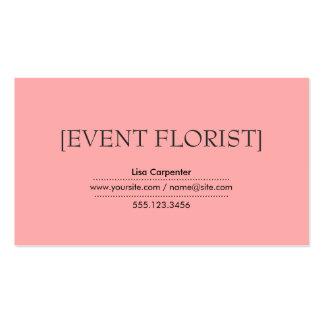Fundo claro do rosa Salmon dos suportes Cartão De Visita