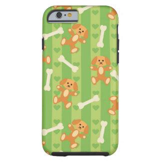 fundo com cães e ossos capa tough para iPhone 6